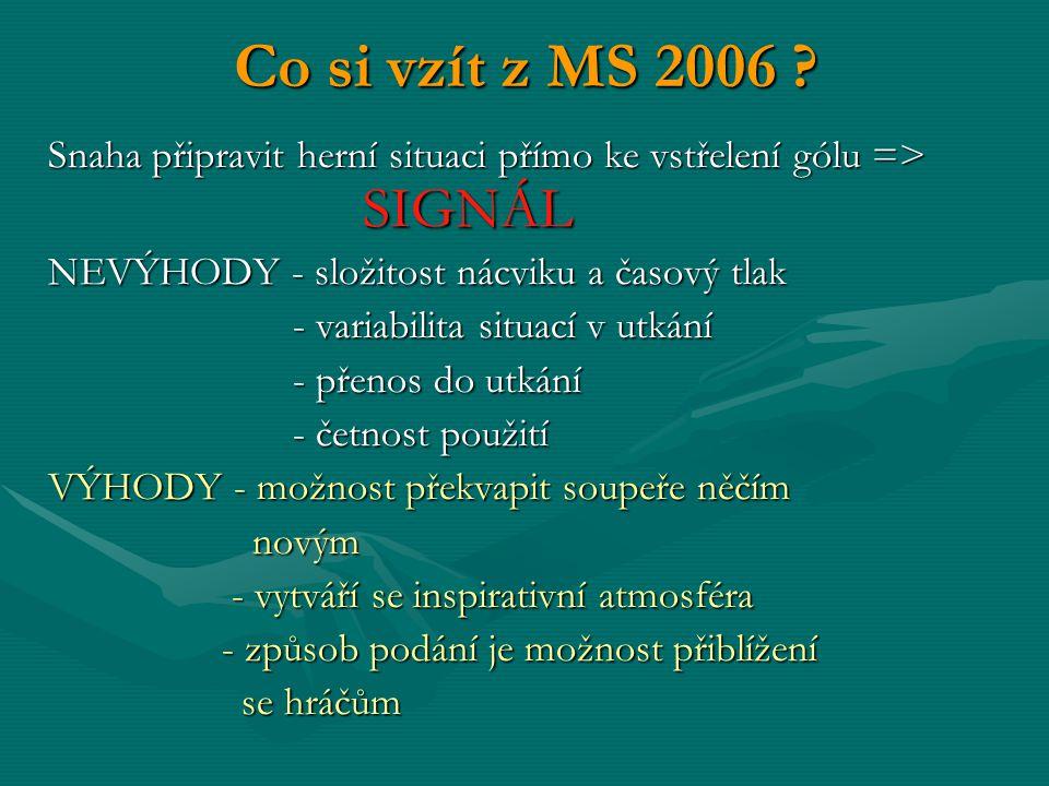 Co si vzít z MS 2006 .