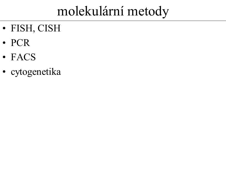 molekulární metody FISH, CISH PCR FACS cytogenetika