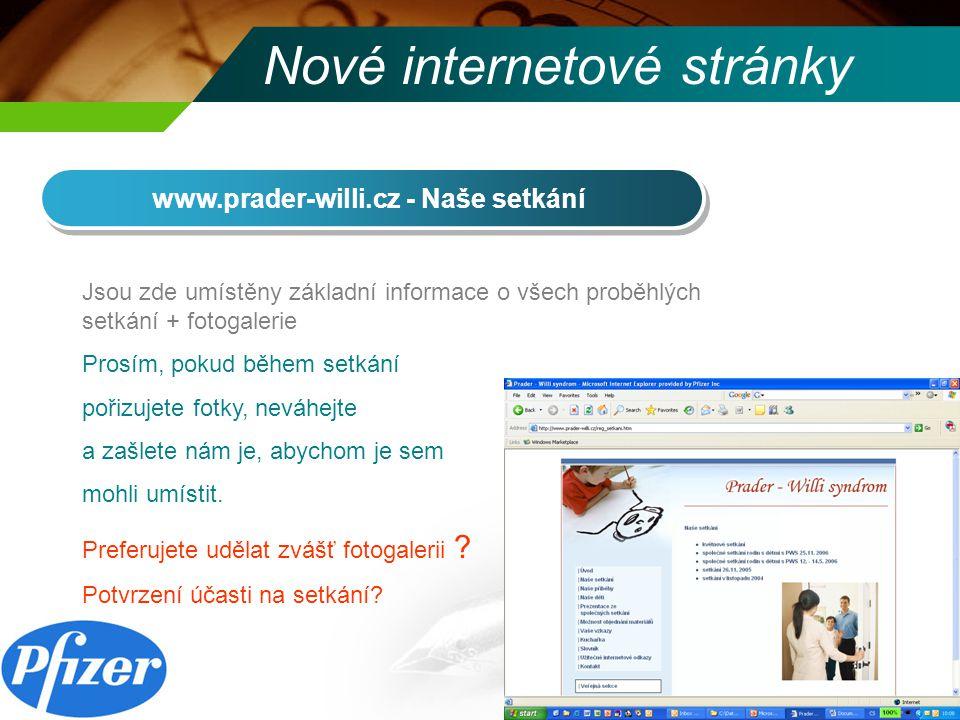 Nové internetové stránky www.prader-willi.cz - Naše příběhy Stále je zde pouze příběh Adélky.