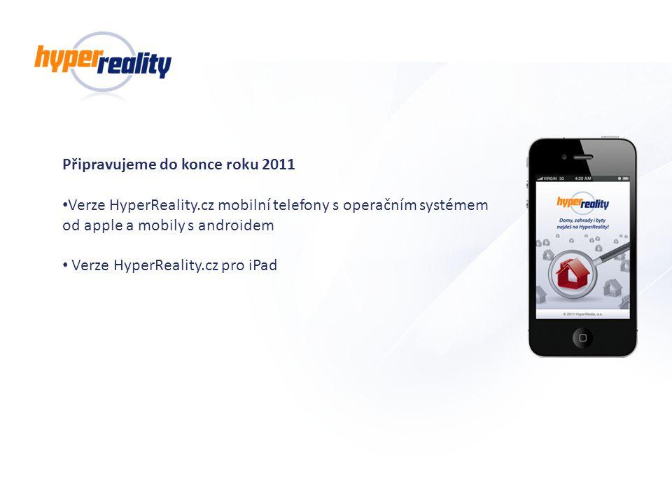 Připravujeme do konce roku 2011 Verze HyperReality.cz mobilní telefony s operačním systémem od apple a mobily s androidem Verze HyperReality.cz pro iP