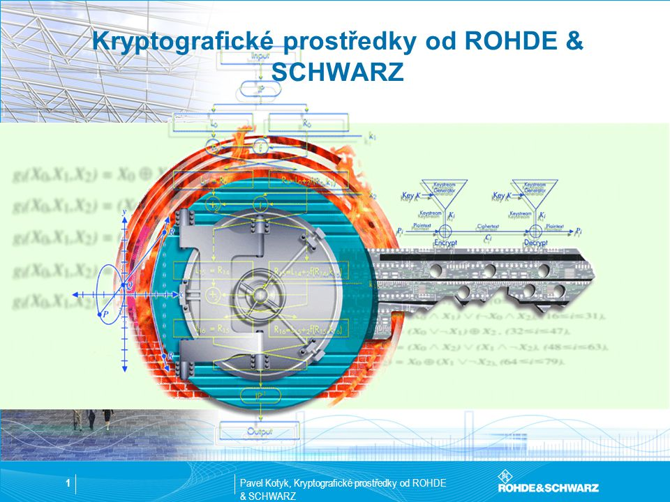 Pavel Kotyk, Kryptografické prostředky od ROHDE & SCHWARZ 12 TopSec 703+ Spolehlivé šifrování pro Euro-ISDN  Zařízení typu Plug&Play  Jednoduchá správa  Zabezpečení update software na dálku  Oddělené šifrování dvou B-kanálů ISDN (po 64 kBit/s) 