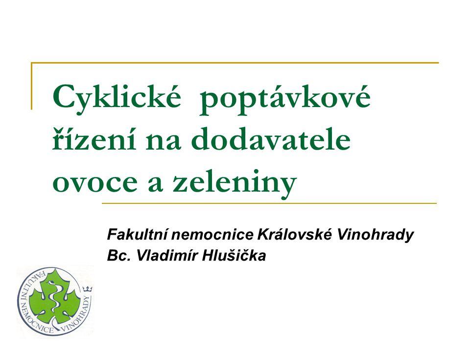 Cyklické poptávkové řízení na dodavatele ovoce a zeleniny Fakultní nemocnice Královské Vinohrady Bc. Vladimír Hlušička