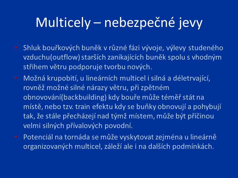 Supercely – nebezpečné jevy Jedna dominantní dlouhotrvající, neustále se obnovující buňka a to podobným způsobem jako MCLS.