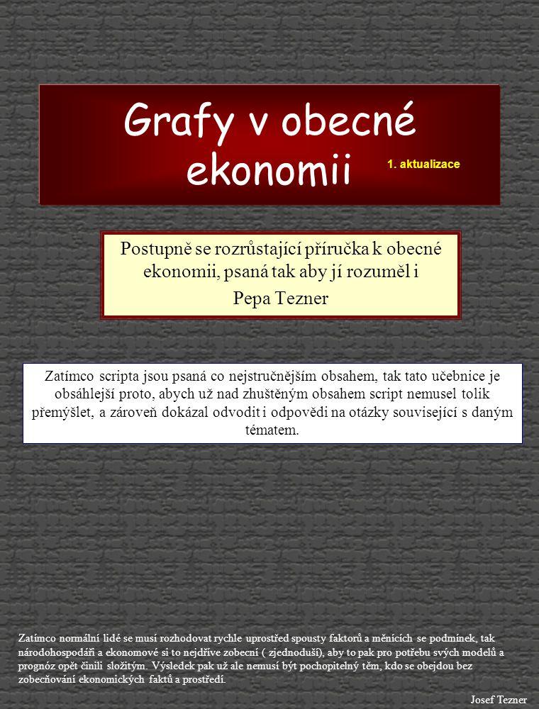 Grafy v obecné ekonomii Postupně se rozrůstající příručka k obecné ekonomii, psaná tak aby jí rozuměl i Pepa Tezner Zatímco normální lidé se musí rozh