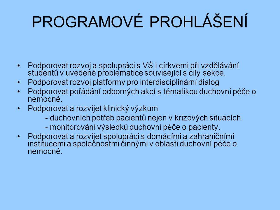 SPIRITUÁLNÍ PÉČE Nemoc, event.