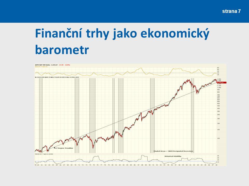 strana 8 HDP CPI S&P 500 Nezaměstnanost