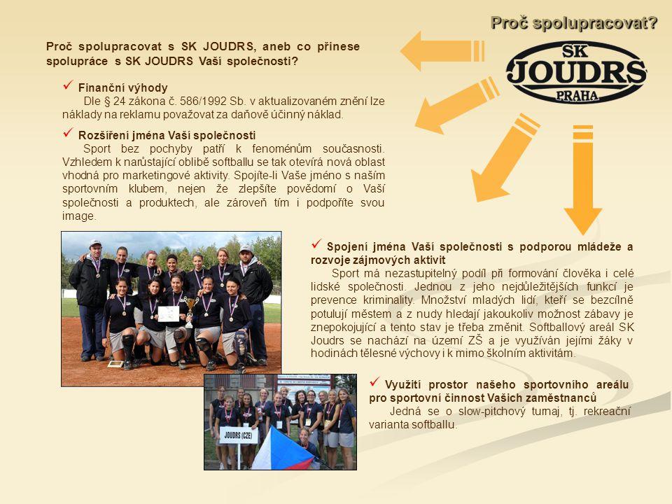 Proč spolupracovat s SK JOUDRS, aneb co přinese spolupráce s SK JOUDRS Vaší společnosti.