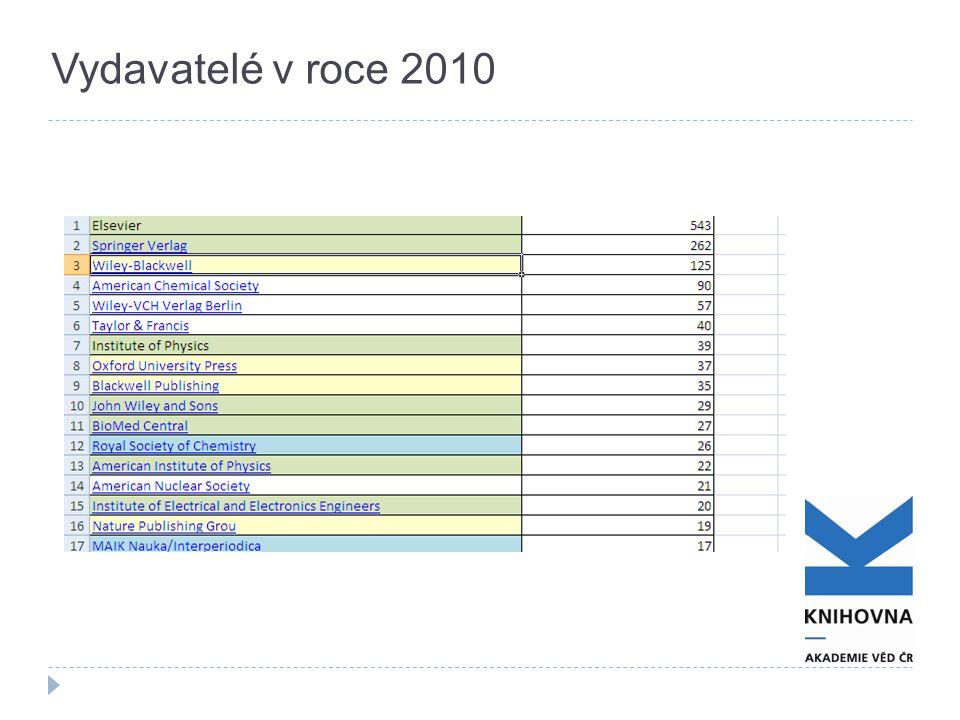 Vydavatelé v roce 2010
