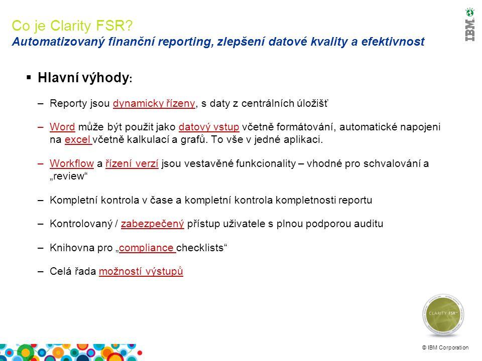 © IBM Corporation Clarity FSR Jak funguje.