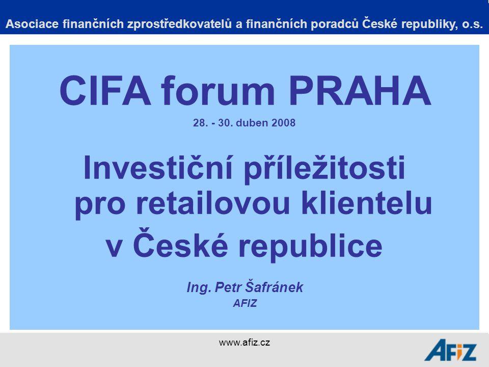 www.afiz.cz Děkuji za pozornost Asociace finančních zprostředkovatelů a finančních poradců České republiky, o.s.