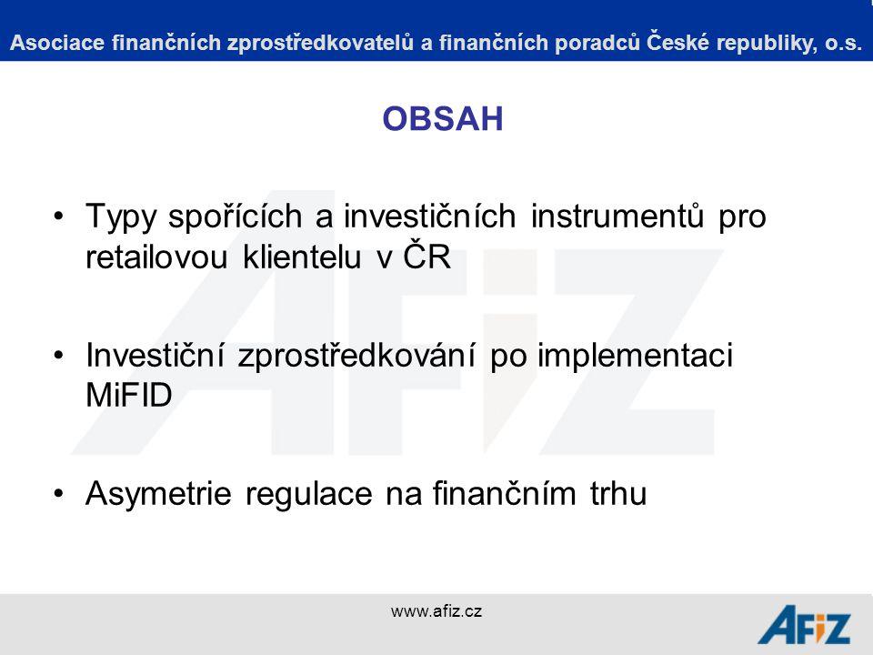 www.afiz.cz Asociace finančních zprostředkovatelů a finančních poradců České republiky, o.s.
