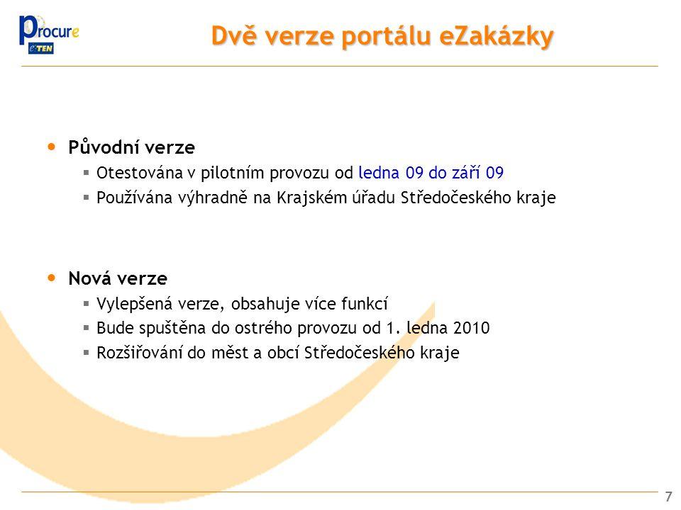 8 Zadávání přes portál Veřejný zadavatel se rozhodne vyhlásit veřejnou zakázku malého rozsahu Vytvoří výzvu a zadávací dokumentaci 1 2 Vloží výzvu a další dokumentaci k zakázce (formát ZIP) Zakázka se okamžitě zobrazí na portálu, kde ji mohou vyhledat případní uchazeči (Automatické upozornění uchazečů mailem na nově vyhlášené VZ) 3 Uchazeč si může z portálu stáhnout výzvu a zadávací dokumentaci 4 5 Uchazeč může vznést dotazy prostřednictvím portálu (Odpovědi veřejného zadavatele jsou automaticky e-mailem rozeslány uchazečům, kteří si již stáhli zadávací dokumentaci) 6 Uchazeč podá nabídku (formát ZIP) (Uchazeči automaticky obdrží potvrzení o přijetí nabídky mailem) Portál shromažďuje všechny nabídky podané elektronicky a zaznamenává přesný čas jejich podání.
