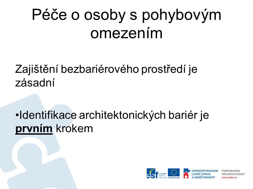 Východiska projektu V České republice dosud chyběl nástroj, pomocí kterého by bylo možné systematicky a objektivně identifikovat bariéry a na jejich základě navrhnout efektivní postup jejich odstraňování vzhledem ke: -Stavu bydlení -Rozsahu omezení