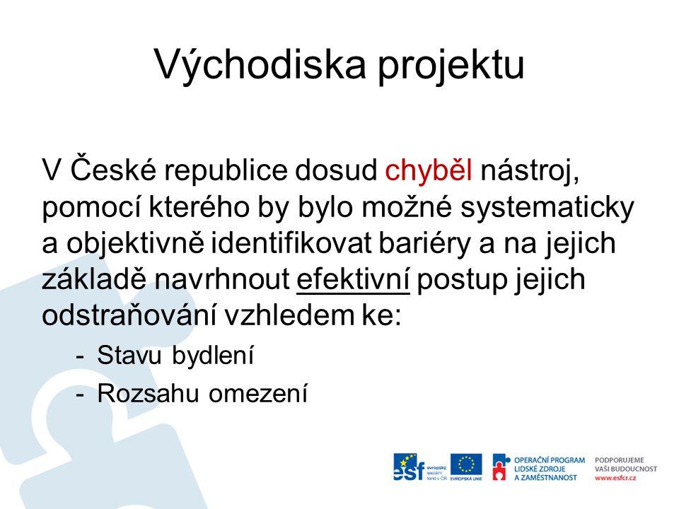 Východiska projektu V České republice dosud chyběl nástroj, pomocí kterého by bylo možné systematicky a objektivně identifikovat bariéry a na jejich z