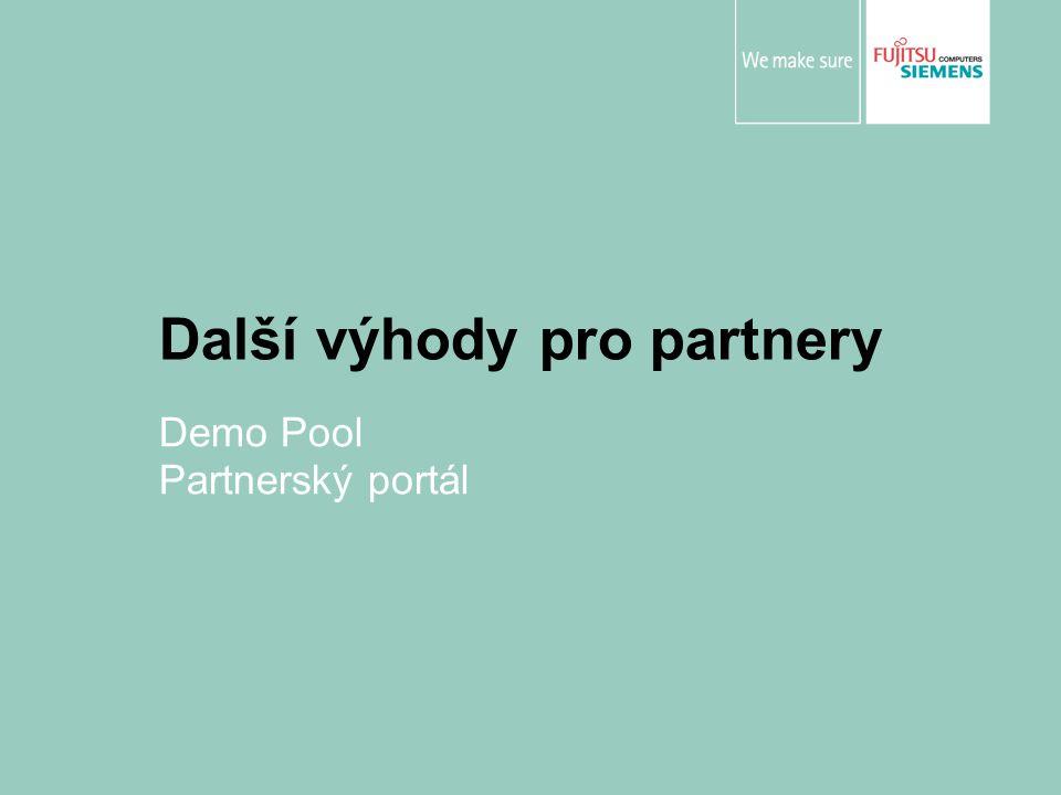 Další výhody pro partnery Demo Pool Partnerský portál