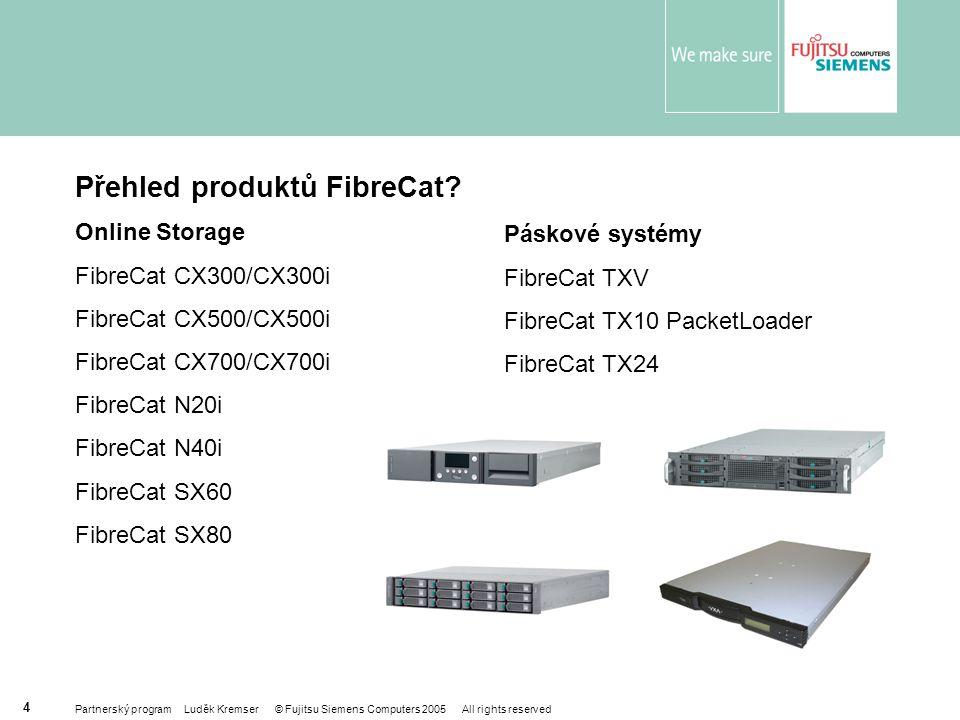 Partnerský program Luděk Kremser © Fujitsu Siemens Computers 2005 All rights reserved 4 Přehled produktů FibreCat.