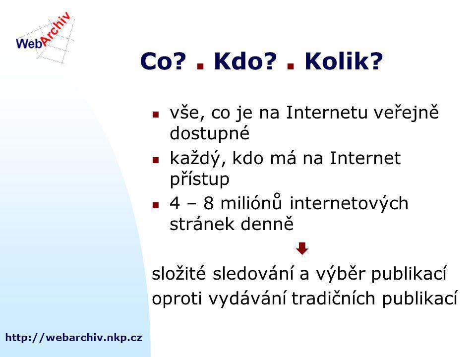 http://webarchiv.nkp.cz Co.  Kdo.  Kolik.