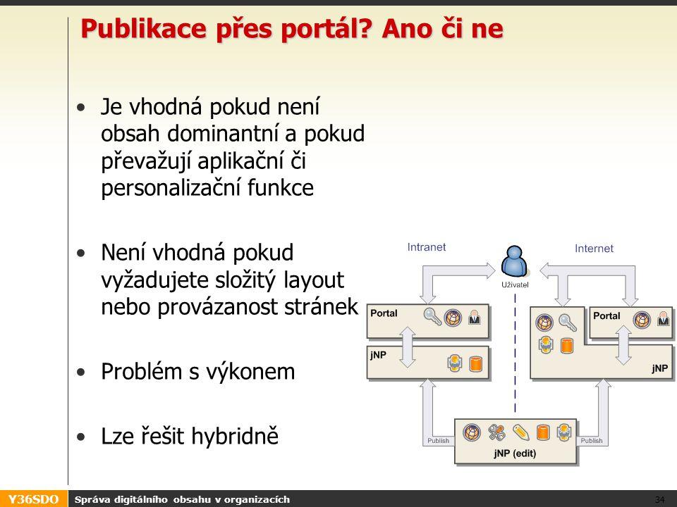 Y36SDO Publikace přes portál.