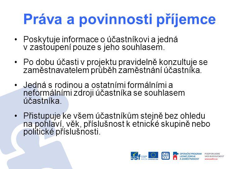 Poskytuje informace o účastníkovi a jedná v zastoupení pouze s jeho souhlasem.