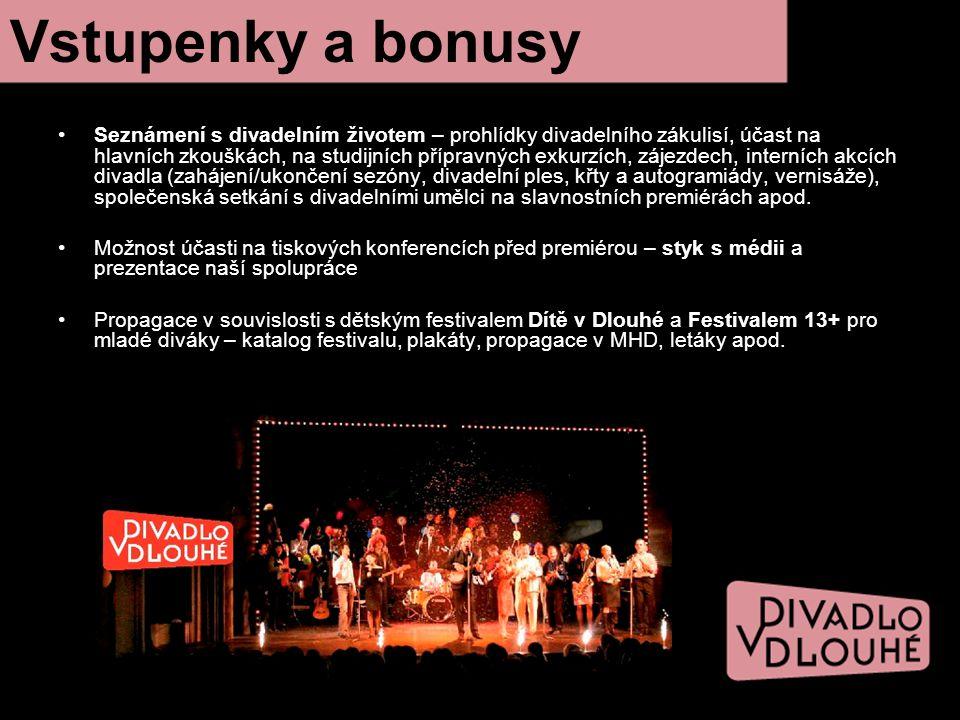 Seznámení s divadelním životem – prohlídky divadelního zákulisí, účast na hlavních zkouškách, na studijních přípravných exkurzích, zájezdech, interníc