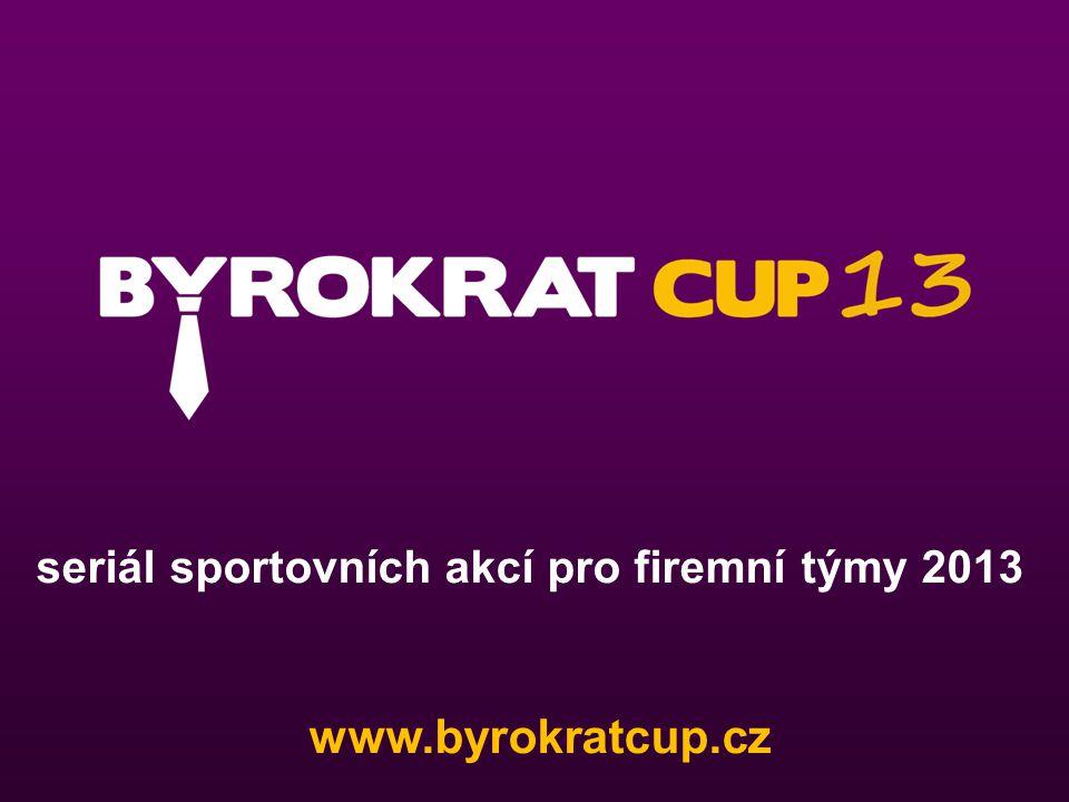 seriál sportovních akcí pro firemní týmy 2013 www.byrokratcup.cz