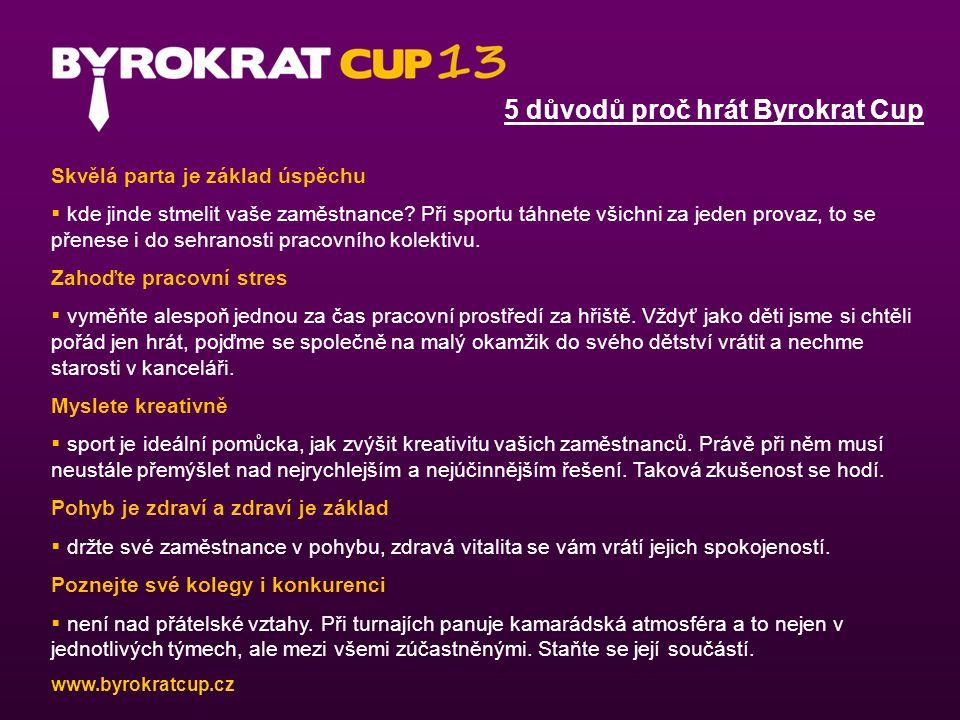 5 důvodů proč hrát Byrokrat Cup Skvělá parta je základ úspěchu  kde jinde stmelit vaše zaměstnance.