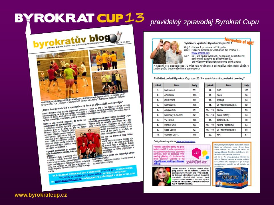 pravidelný zpravodaj Byrokrat Cupu www.byrokratcup.cz