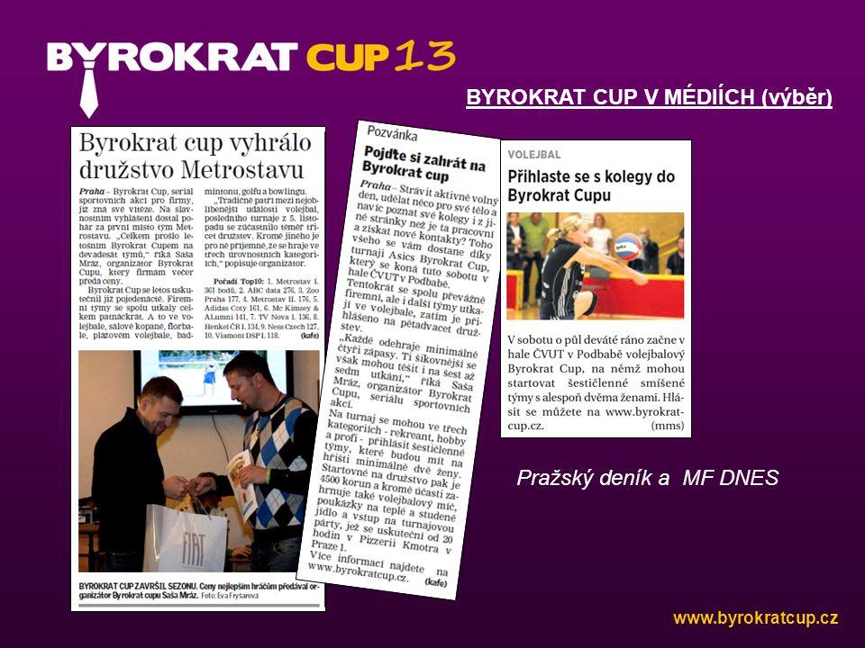 BYROKRAT CUP V MÉDIÍCH (výběr) Pražský deník a MF DNES www.byrokratcup.cz
