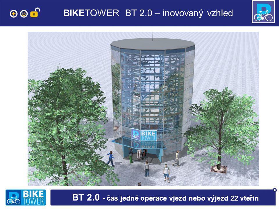BIKETOWER BT 2.0 – inovovaný vzhled BT 2.0 - čas jedné operace vjezd nebo výjezd 22 vteřin