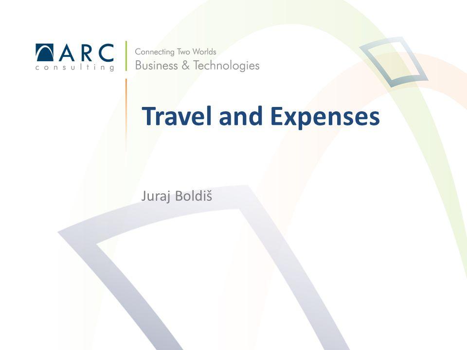 Juraj Boldiš Travel and Expenses
