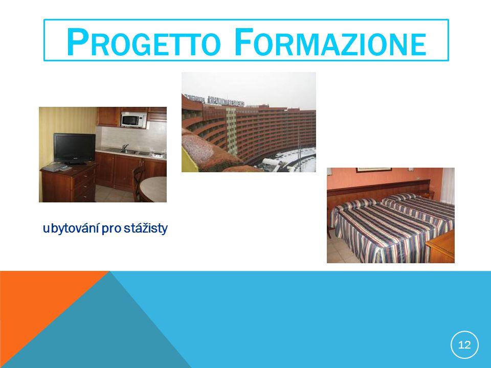 12 P ROGETTO F ORMAZIONE ubytování pro stážisty