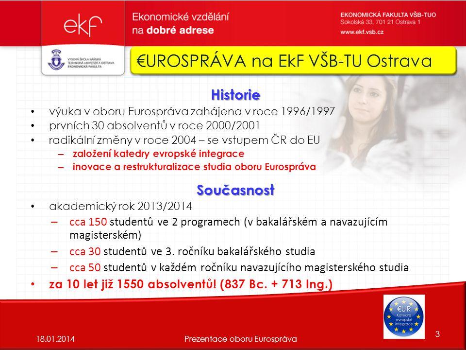 Vzdělávací program ERASMUS 18.01. 201414Prezentace oboru Eurospráva Just do it.