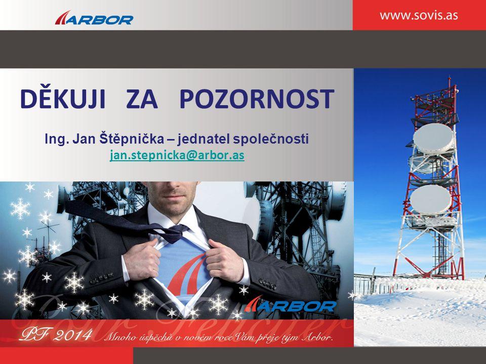 DĚKUJI ZA POZORNOST Ing. Jan Štěpnička – jednatel společnosti jan.stepnicka@arbor.as