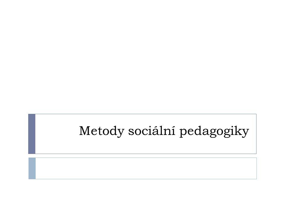 Metody sociální pedagogiky