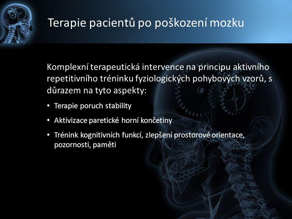 Terapie pacientů po poškození mozku Komplexní terapeutická intervence na principu aktivního repetitivního tréninku fyziologických pohybových vzorů, s