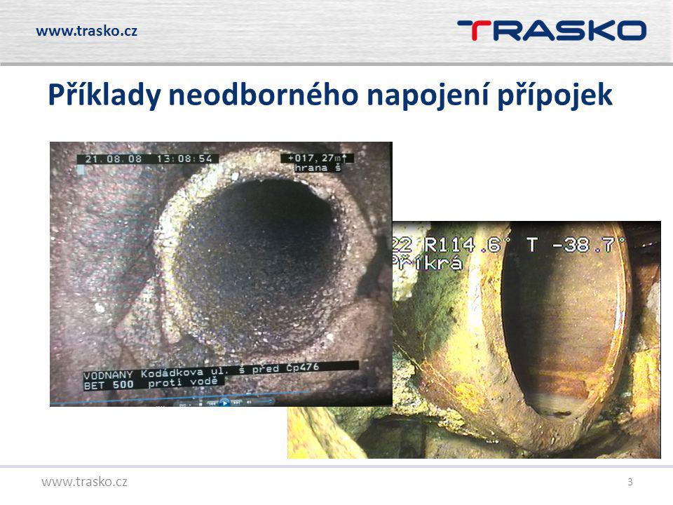 4 www.trasko.cz Metody opravy napojení přípojek Zatěsnění přípojek Průlezné profily Neprůlezné profily zednické jiné – např.