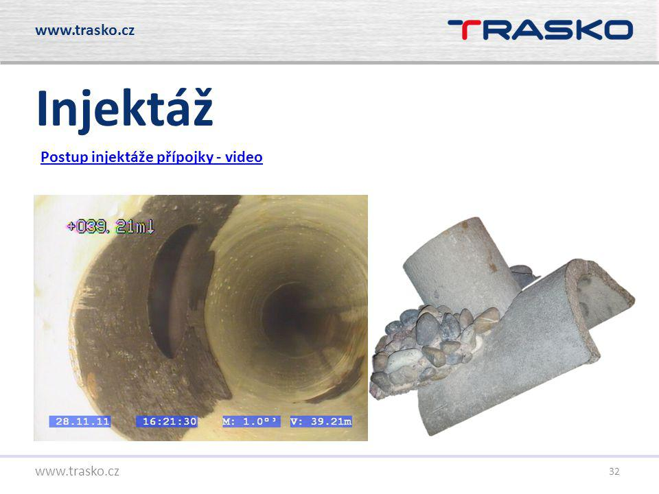 32 Injektáž Postup injektáže přípojky - video www.trasko.cz