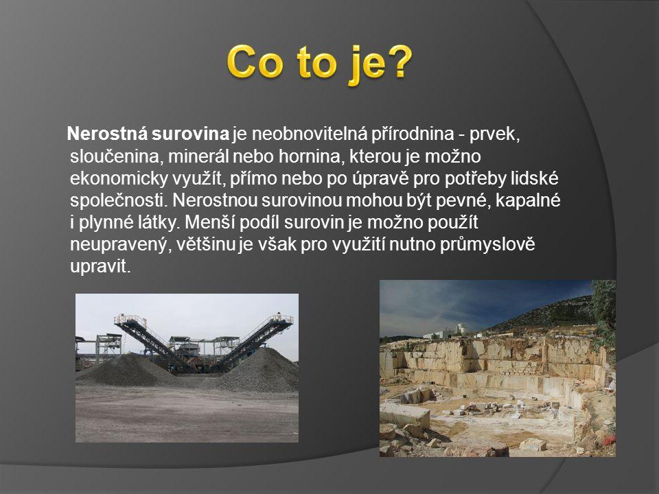 Nerostná surovina je neobnovitelná přírodnina - prvek, sloučenina, minerál nebo hornina, kterou je možno ekonomicky využít, přímo nebo po úpravě pro potřeby lidské společnosti.