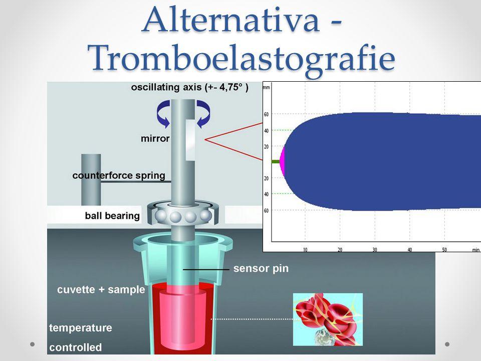 Pro a proti… PRO plná krev vývoj koagula v čase rychlost vliv teploty umožňuje cílenou terapii bed side metoda PROTI neodhalí efekt léků efekt anemie