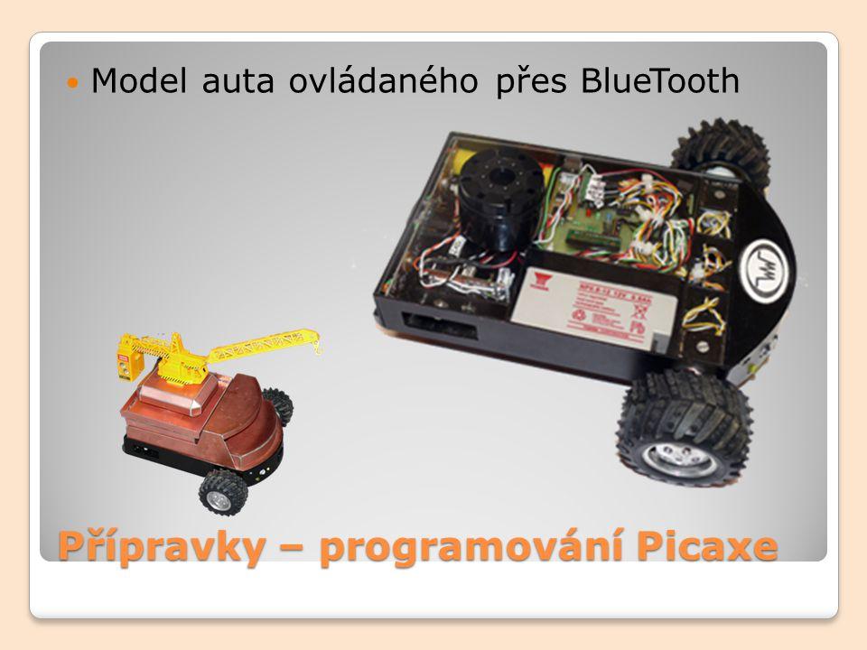 Přípravky – programování Picaxe Model auta ovládaného přes BlueTooth
