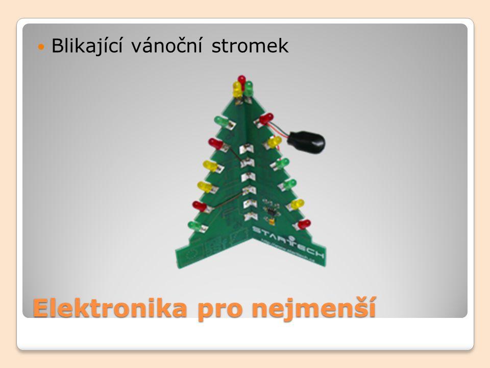 Elektronika pro nejmenší Blikající vánoční stromek