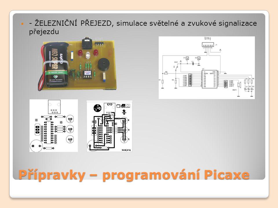 Přípravky – programování Picaxe - ZVUKY I, pomocí potenciometru se mění výška tónu.