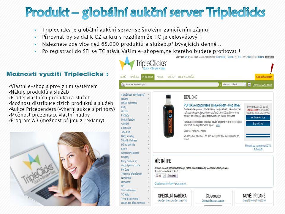  Tripleclicks je globální aukční server se širokým zaměřením zájmů  Přirovnat by se dal k CZ aukru s rozdílem,že TC je celosvětový .
