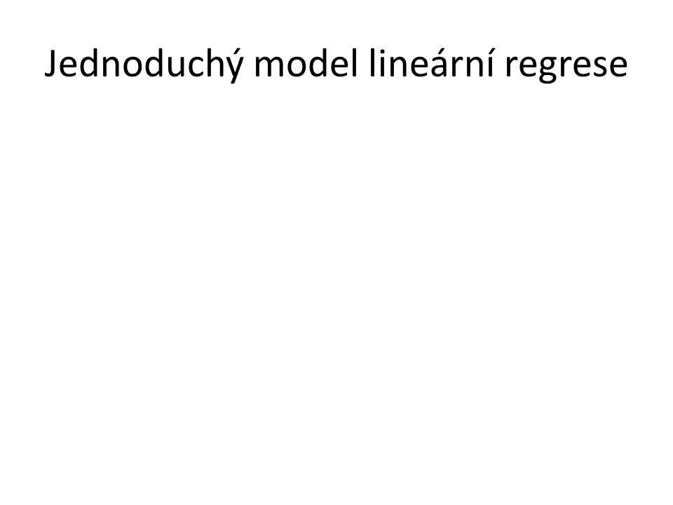 Jednoduchý model lineární regrese