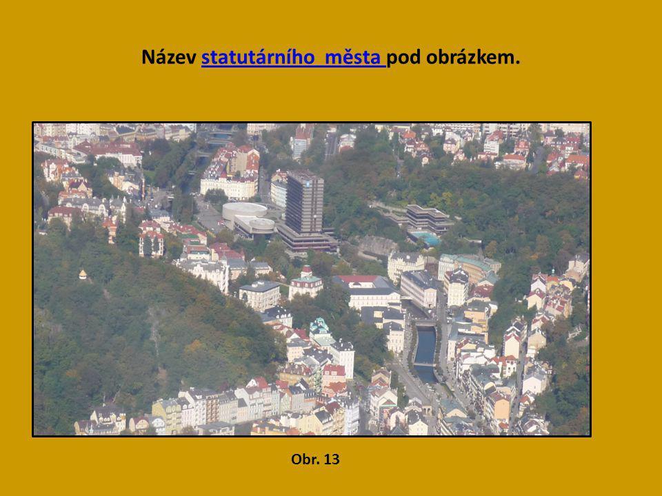 Název statutárního města pod obrázkem.statutárního města Obr. 13 Karlovy Vary