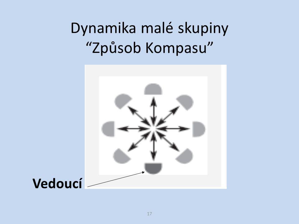 17 Dynamika malé skupiny Způsob Kompasu Vedoucí