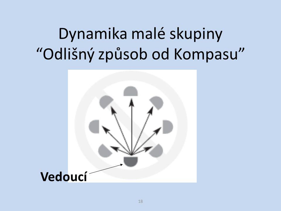 18 Dynamika malé skupiny Odlišný způsob od Kompasu Vedoucí