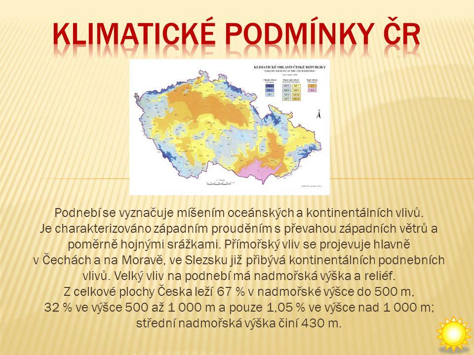 Podnebí se vyznačuje míšením oceánských a kontinentálních vlivů.
