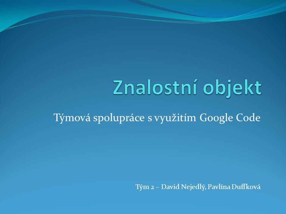 Týmová spolupráce s využitím Google Code Tým 2 – David Nejedlý, Pavlína Duffková