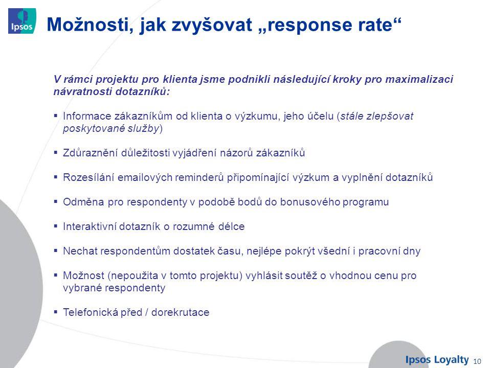 """10 Možnosti, jak zvyšovat """"response rate"""" V rámci projektu pro klienta jsme podnikli následující kroky pro maximalizaci návratnosti dotazníků:  Infor"""